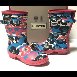 New! Hunter Floral Rubber Boots sz 7